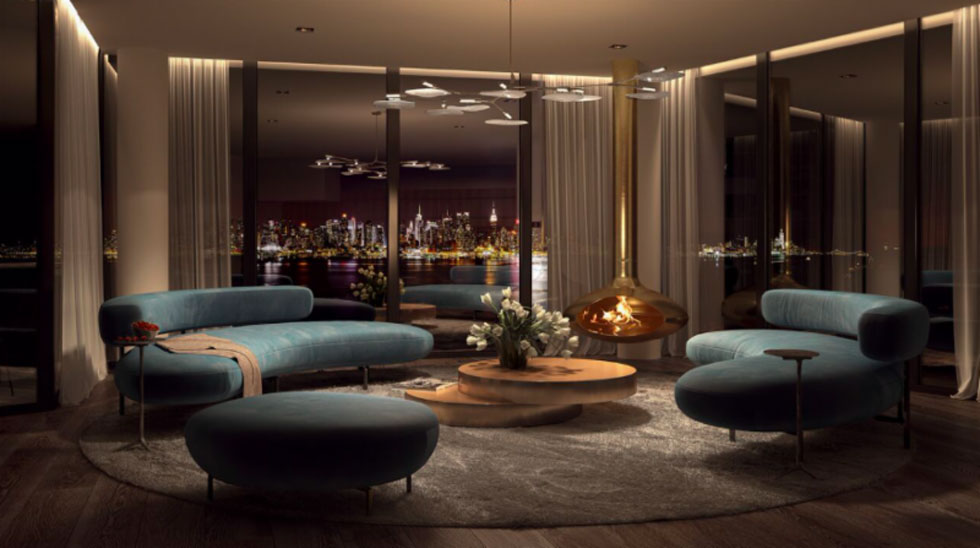 Zen Living Room Design. A Living Room In Nine On Hudson. Renderings By Vdp